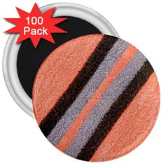 Fabric Textile Texture Surface 3  Magnets (100 Pack) by Celenk