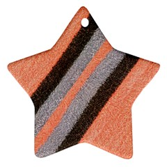 Fabric Textile Texture Surface Star Ornament (two Sides) by Celenk