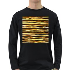 Texture Wood Wood Texture Wooden Long Sleeve Dark T Shirts by Celenk