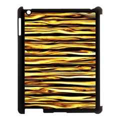 Texture Wood Wood Texture Wooden Apple Ipad 3/4 Case (black) by Celenk