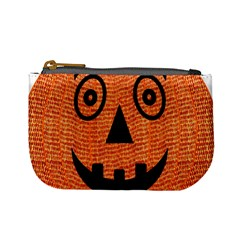 Fabric Halloween Pumpkin Funny Mini Coin Purses