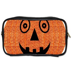 Fabric Halloween Pumpkin Funny Toiletries Bags by Celenk