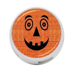 Fabric Halloween Pumpkin Funny 4 Port Usb Hub (one Side) by Celenk