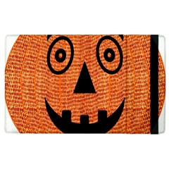 Fabric Halloween Pumpkin Funny Apple Ipad 3/4 Flip Case by Celenk