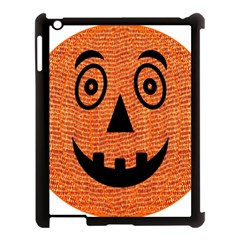 Fabric Halloween Pumpkin Funny Apple Ipad 3/4 Case (black) by Celenk