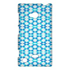 Fabric Geometric Aqua Crescents Nokia Lumia 720 by Celenk