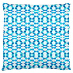 Fabric Geometric Aqua Crescents Large Flano Cushion Case (two Sides) by Celenk