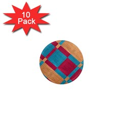 Fabric Textile Cloth Material 1  Mini Magnet (10 Pack)  by Celenk