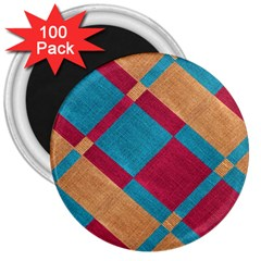 Fabric Textile Cloth Material 3  Magnets (100 Pack) by Celenk