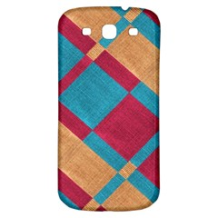 Fabric Textile Cloth Material Samsung Galaxy S3 S Iii Classic Hardshell Back Case by Celenk