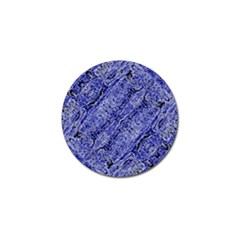 Texture Blue Neon Brick Diagonal Golf Ball Marker by Celenk