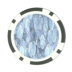 Bubbles Texture Blue Shades Poker Chip Card Guard by Celenk