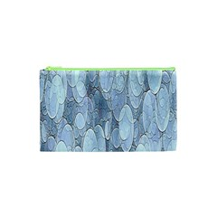 Bubbles Texture Blue Shades Cosmetic Bag (xs) by Celenk