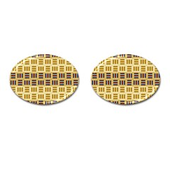 Textile Texture Fabric Material Cufflinks (oval) by Celenk