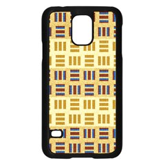 Textile Texture Fabric Material Samsung Galaxy S5 Case (black)