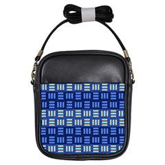 Textiles Texture Structure Grid Girls Sling Bags by Celenk