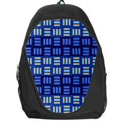 Textiles Texture Structure Grid Backpack Bag by Celenk