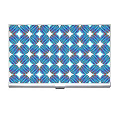 Geometric Dots Pattern Rainbow Business Card Holders by Celenk