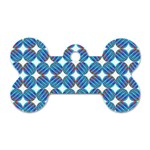 Geometric Dots Pattern Rainbow Dog Tag Bone (Two Sides) Front