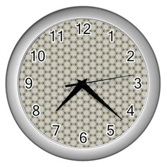 Background Website Pattern Soft Wall Clocks (silver)  by Celenk