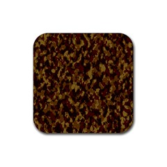 Camouflage Tarn Forest Texture Rubber Square Coaster (4 Pack)  by Celenk