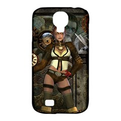 Steampunk, Steampunk Women With Clocks And Gears Samsung Galaxy S4 Classic Hardshell Case (pc+silicone) by FantasyWorld7