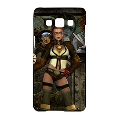 Steampunk, Steampunk Women With Clocks And Gears Samsung Galaxy A5 Hardshell Case  by FantasyWorld7