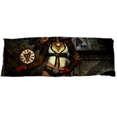 Steampunk, Steampunk Women With Clocks And Gears Body Pillow Case Dakimakura (two Sides) by FantasyWorld7