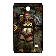 Steampunk, Steampunk Women With Clocks And Gears Samsung Galaxy Tab 4 (8 ) Hardshell Case  by FantasyWorld7