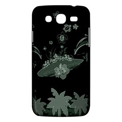 Surfboard With Dolphin, Flowers, Palm And Turtle Samsung Galaxy Mega 5 8 I9152 Hardshell Case  by FantasyWorld7