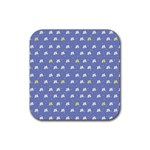 xmas0050 Rubber Square Coaster (4 pack)