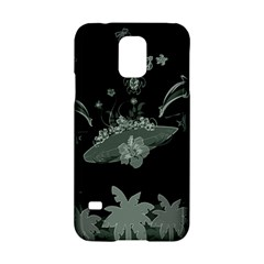 Surfboard With Dolphin, Flowers, Palm And Turtle Samsung Galaxy S5 Hardshell Case  by FantasyWorld7