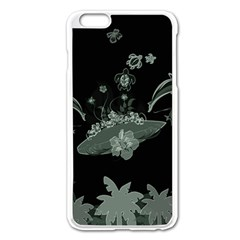 Surfboard With Dolphin, Flowers, Palm And Turtle Apple Iphone 6 Plus/6s Plus Enamel White Case by FantasyWorld7