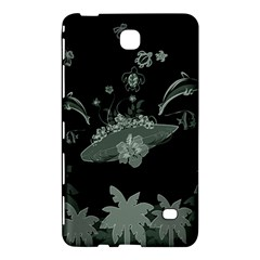 Surfboard With Dolphin, Flowers, Palm And Turtle Samsung Galaxy Tab 4 (8 ) Hardshell Case  by FantasyWorld7