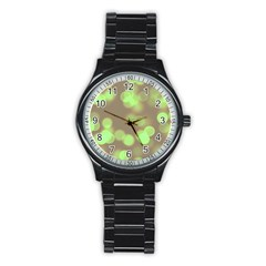 Soft Lights Bokeh 4c Stainless Steel Round Watch by MoreColorsinLife