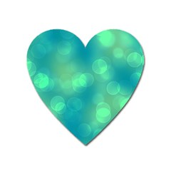 Soft Lights Bokeh 1b Heart Magnet by MoreColorsinLife