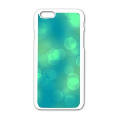 Soft Lights Bokeh 1b Apple Iphone 6/6s White Enamel Case by MoreColorsinLife