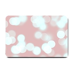 Soft Lights Bokeh 5 Small Doormat  by MoreColorsinLife