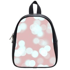 Soft Lights Bokeh 5 School Bag (small) by MoreColorsinLife