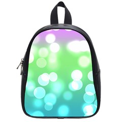 Soft Lights Bokeh 2 School Bag (small) by MoreColorsinLife