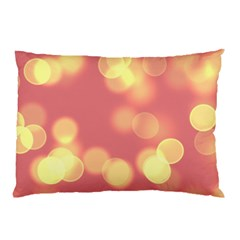 Soft Lights Bokeh 4b Pillow Case by MoreColorsinLife