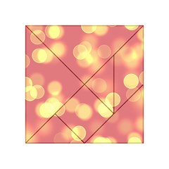 Soft Lights Bokeh 4b Acrylic Tangram Puzzle (4  X 4 ) by MoreColorsinLife
