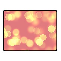 Soft Lights Bokeh 4b Double Sided Fleece Blanket (small)  by MoreColorsinLife