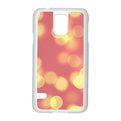 Soft Lights Bokeh 4b Samsung Galaxy S5 Case (white) by MoreColorsinLife