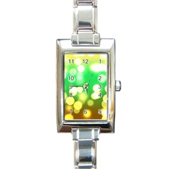 Soft Lights Bokeh 3 Rectangle Italian Charm Watch
