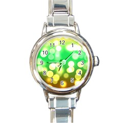 Soft Lights Bokeh 3 Round Italian Charm Watch