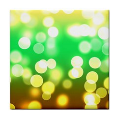 Soft Lights Bokeh 3 Tile Coasters by MoreColorsinLife
