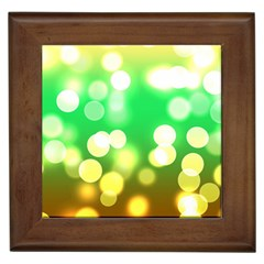 Soft Lights Bokeh 3 Framed Tiles