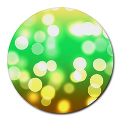 Soft Lights Bokeh 3 Round Mousepads