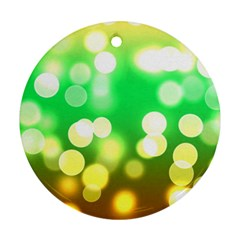 Soft Lights Bokeh 3 Ornament (Round)